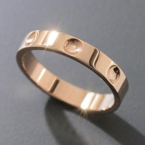 Louis Vuitton 18K Pink Gold Empreinte Ring Size 7.0