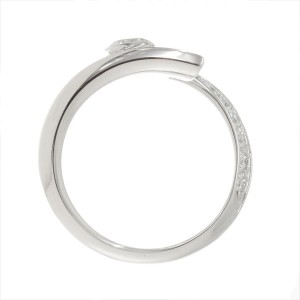 Chanel 18K White Gold Diamond Comete Ring Size 3.5 - 3.75