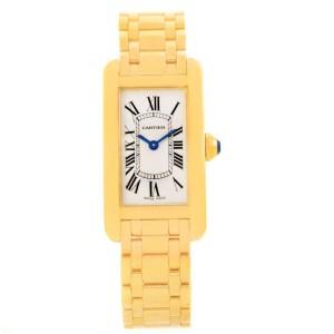 Cartier Tank W26015K2 18K Yellow Gold Quartz 35mm Womens Watch
