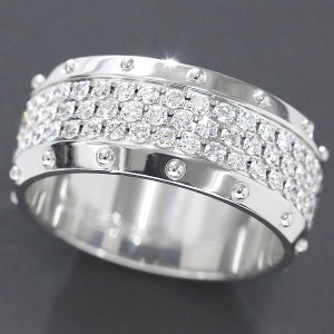 Louis Vuitton 18K White Gold & Diamond Petite Berg Emprise Ring