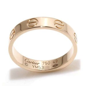 Cartier 18K Pink Gold Mini Love Ring Size 4.75