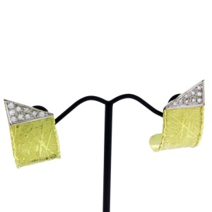 Unoaerre 18K Yellow & White Gold Diamond Earrings
