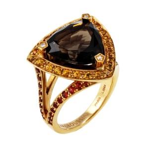 Mauboussin 18K Gold Diamond & Multi-Gemstone Ring