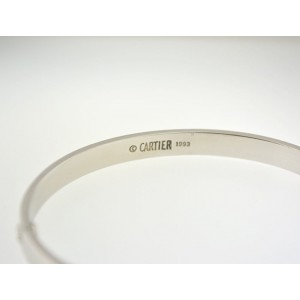 Cartier Love Bracelet White Gold Size 20