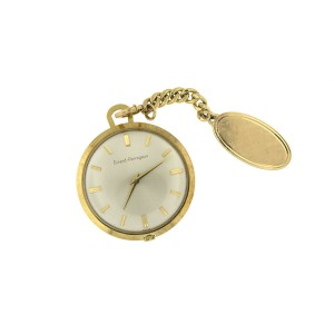 Girard Perregaux 18K Yellow Gold With Small Chain 14K Pocket Watch