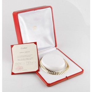 "Cartier ""C de Cartier"" 18K Yellow Gold Necklace"