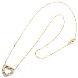 Cartier Trinity 18K Yellow, White & Pink Gold 750 Heart Necklace