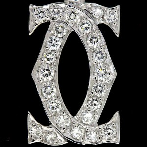 Cartier 18K White Gold 750 & Diamond Cheam Pendant