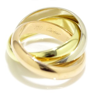Cartier 750 Yellow, White and Rose Gold Ring Size 5.75