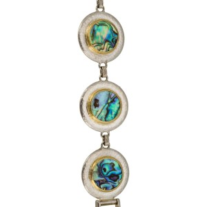 Gurhan Yellow Gold and Silver Ocean Abalone Shells Bracelet
