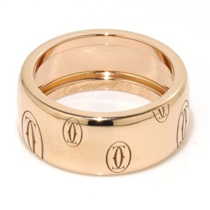 Cartier 18K Pink Gold Happy Birthday Logo Ring