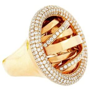 18K Rose Gold Diamond Galaxy Ring