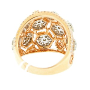 18K Two Tone Diamond Cluster Ring
