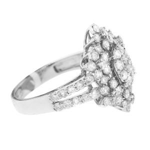 18K White Gold Diamond Snowflake Ring