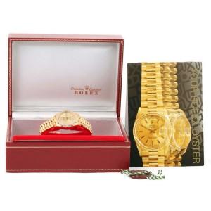 Rolex 69258 President Datejust 18K Yellow Gold String Diamond Womens Watch