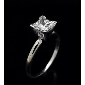 14K White Gold With 1.20ct Diamond Engagement Ring