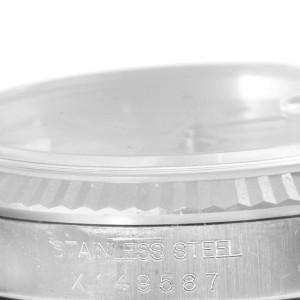 Rolex Datejust 16234 Steel 18K White Gold Silver Baton Dial Mens 36mm Watch