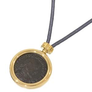 Bulgari 18K Yellow Gold Ancient Coin Monete Chocker Code Necklace