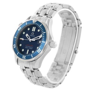 Omega Seamaster 2223.80.00 Stainless Steel & Blue Wave Dial 36.25mm Mens Watch