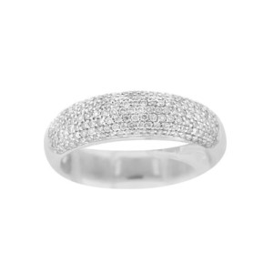 18K White Gold 0.538ct Diamond Ring