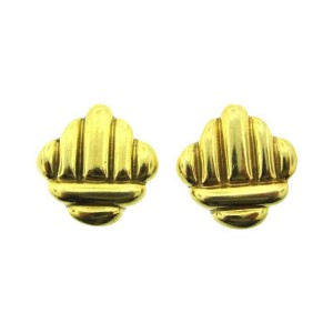 Cartier 18K Yellow Gold Clip On Earrings