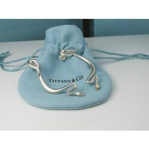 Tiffany & Co. Vintage Long Snake Elsa Peretti Silver 14K Earrings