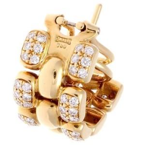 Chopard 18K Yellow Gold & Diamond Earrings