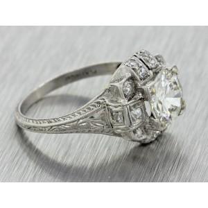 Platinum & 1.62ct Diamond Engagement Ring
