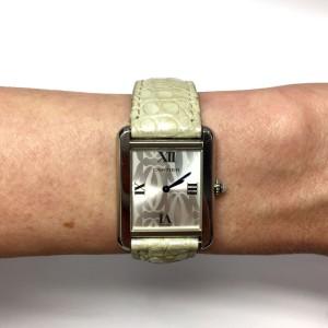 Cartier Must de Cartier Tank Stainless Steel Quartz 24.5 mm Womens Watch