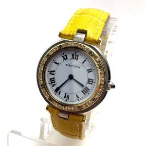 Cartier Santos de Cartier 18K Yellow Gold & Stainless Steel White Dial 32.5mm Womens Watch