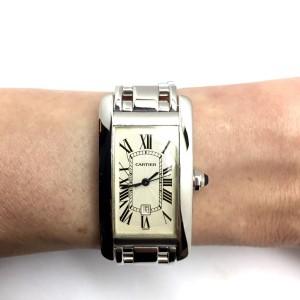 Cartier 18K White Gold Luxury 22.55mm Womens Watch