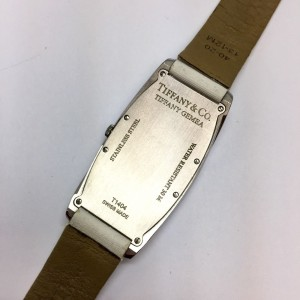 Tiffany & Co. Gemea Stainless Steel / Leather with White Dial 21.35mm Womens Watch
