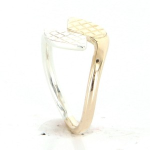 Vintage Cartier 18k Yellow White Gold Bypass Ring