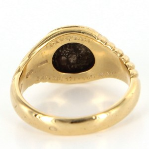 Bvlgari Vintage Ancient Coin Ring 18k Yellow Gold Fine Designer Jewelry