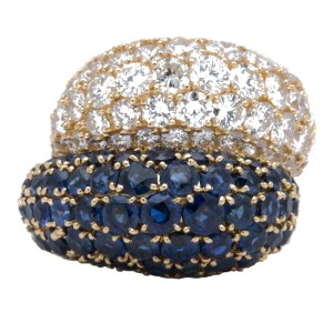 Van Cleef & Arpels 18K Yellow Gold and Sapphire Ring