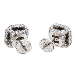 Gregg Ruth 18K White Gold Diamond Earrings