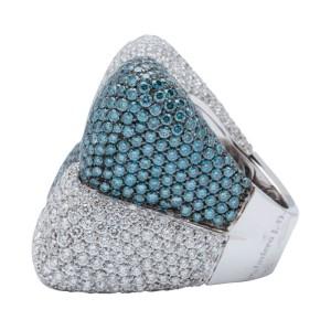 Palmiero 18K White Gold Diamond Earrings & Ring Set