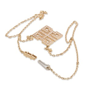 Cartier 18K Yellow Gold Diamond Pendant Necklace