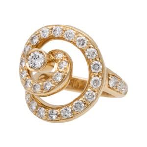 Asprey of London 18K Yellow Gold & Diamond Ring