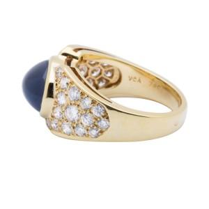 Van Cleef & Arpels 18K Yellow Gold Diamond & Sapphire Ring
