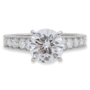 Cartier Platinum Diamond Engagement Ring