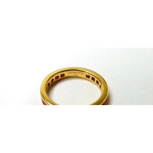 Tiffany & Co. 18K Yellow Gold Ruby Eternity Engagement Band