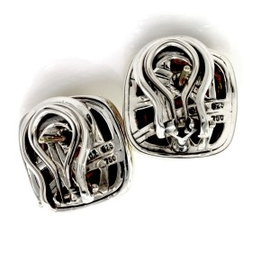 David Yurman Sterling Silver 18K Yellow  Gold Albion Smoky Quartz Earrings