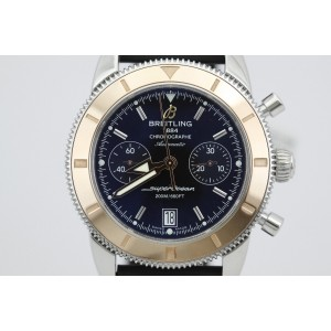 Breitling Superocean Heritage U23370 Rose Gold Bezel Rubber Strap Watch