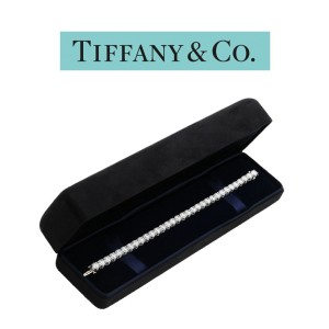 Tiffany & Co. Platinum and 16.78ct Diamond Tennis Bracelet