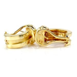 Tiffany & Co. Atlas 18k Yellow Gold Semi-Hoop Earrings
