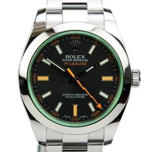 Rolex Milgauss Green Sapphire Crystal Automatic Watch 116400V 116400
