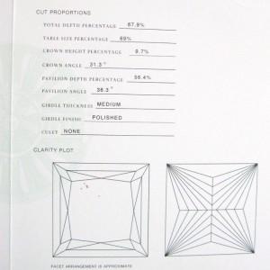 Tiffany & Co. Platinum Princess Cut Diamond Solitaire Ring