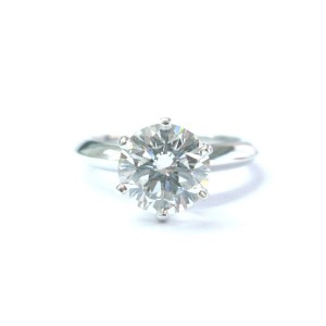 Tiffany & Co Platinum Round Diamond Solitaire Engagement Ring