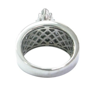 White Gold Princess Round & Baguette Diamond Invisible Setting Ring